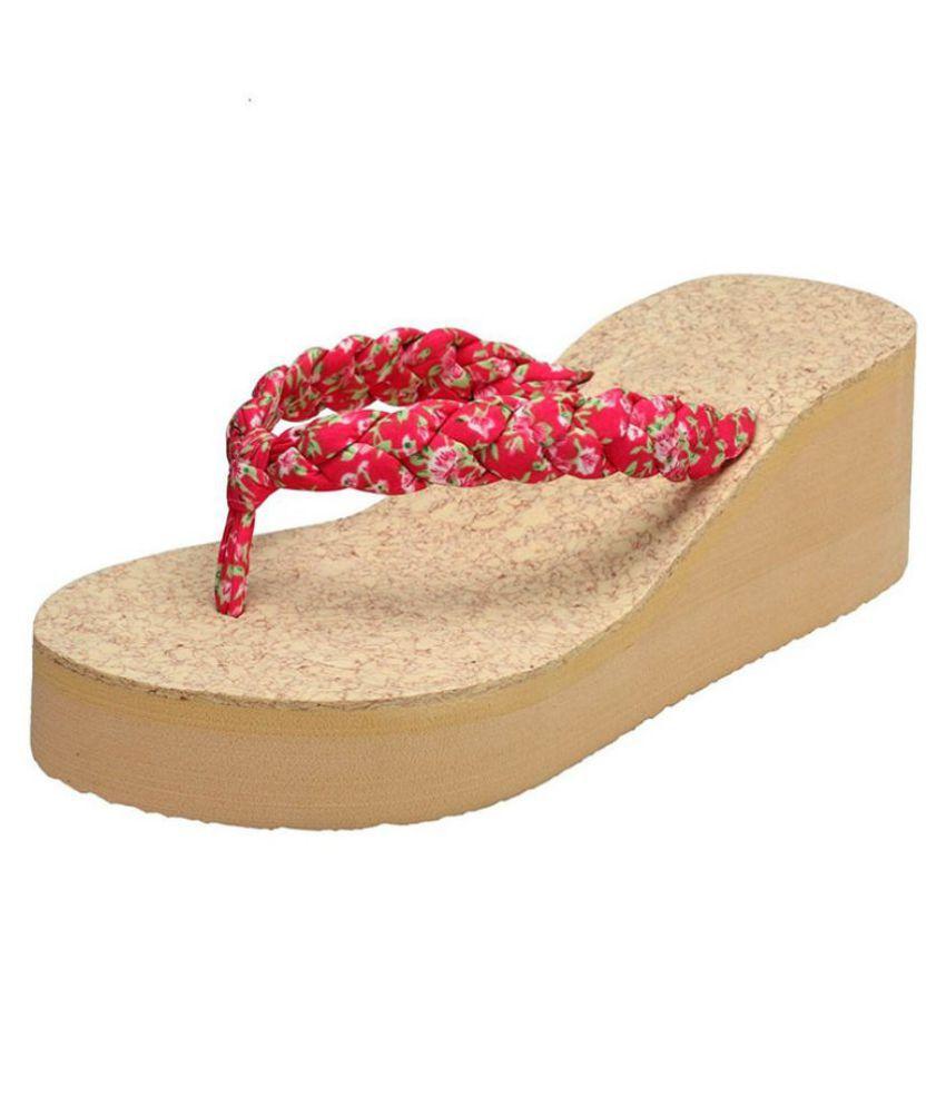 Shoe Lab Pink Platforms Heels