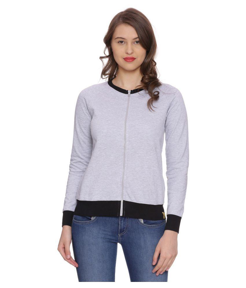 Campus Sutra Cotton Zippered Sweatshirt