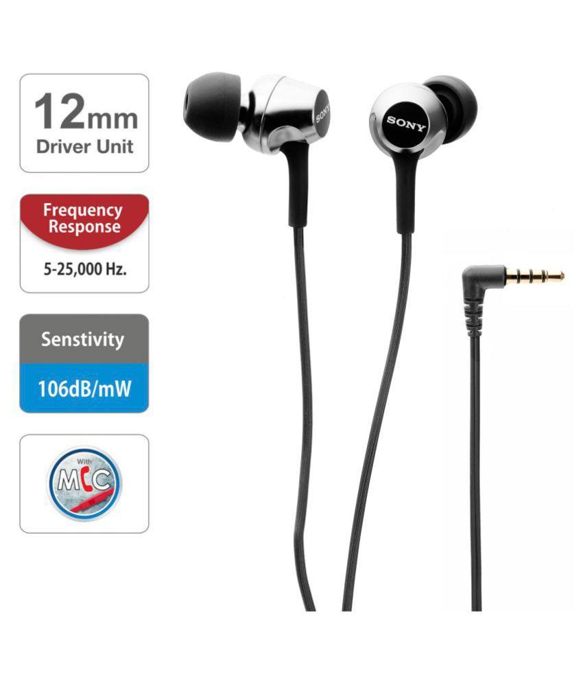 67ea8ae17bb Sony MDR-EX255AP In Ear Wired Earphones With Mic - Buy Sony MDR ...