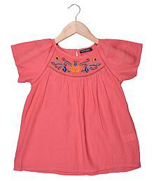 Cool Quotient Rayon Emb Top