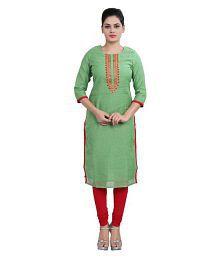 Cotton Culture Multicoloured Chanderi Straight Kurti