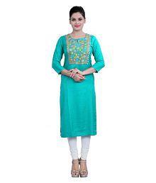 Cotton Culture Multicoloured Rayon Straight Kurti - 636852163358