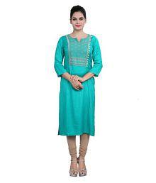 Cotton Culture Multicoloured Rayon Straight Kurti - 626305175950