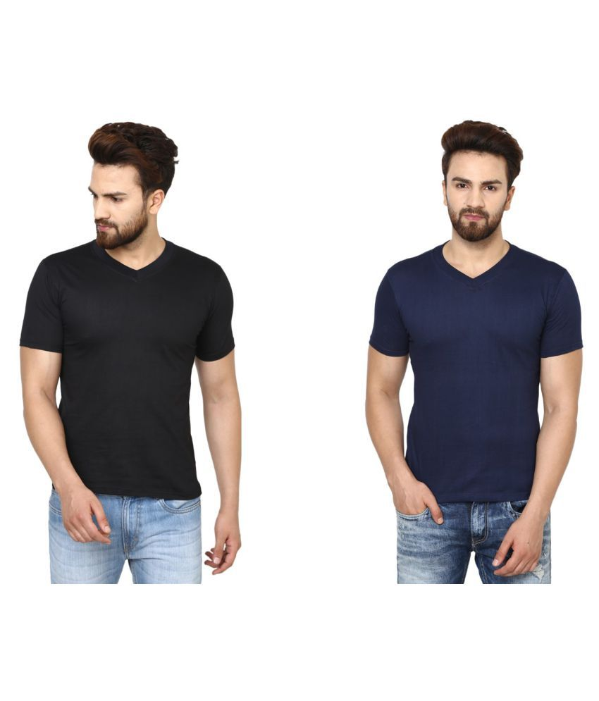 BEN HUSHERS Multi V-Neck T-Shirt Pack of 2