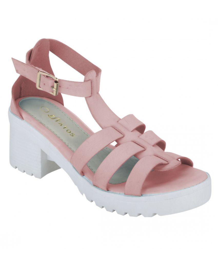 Estatos Pink Block Heels