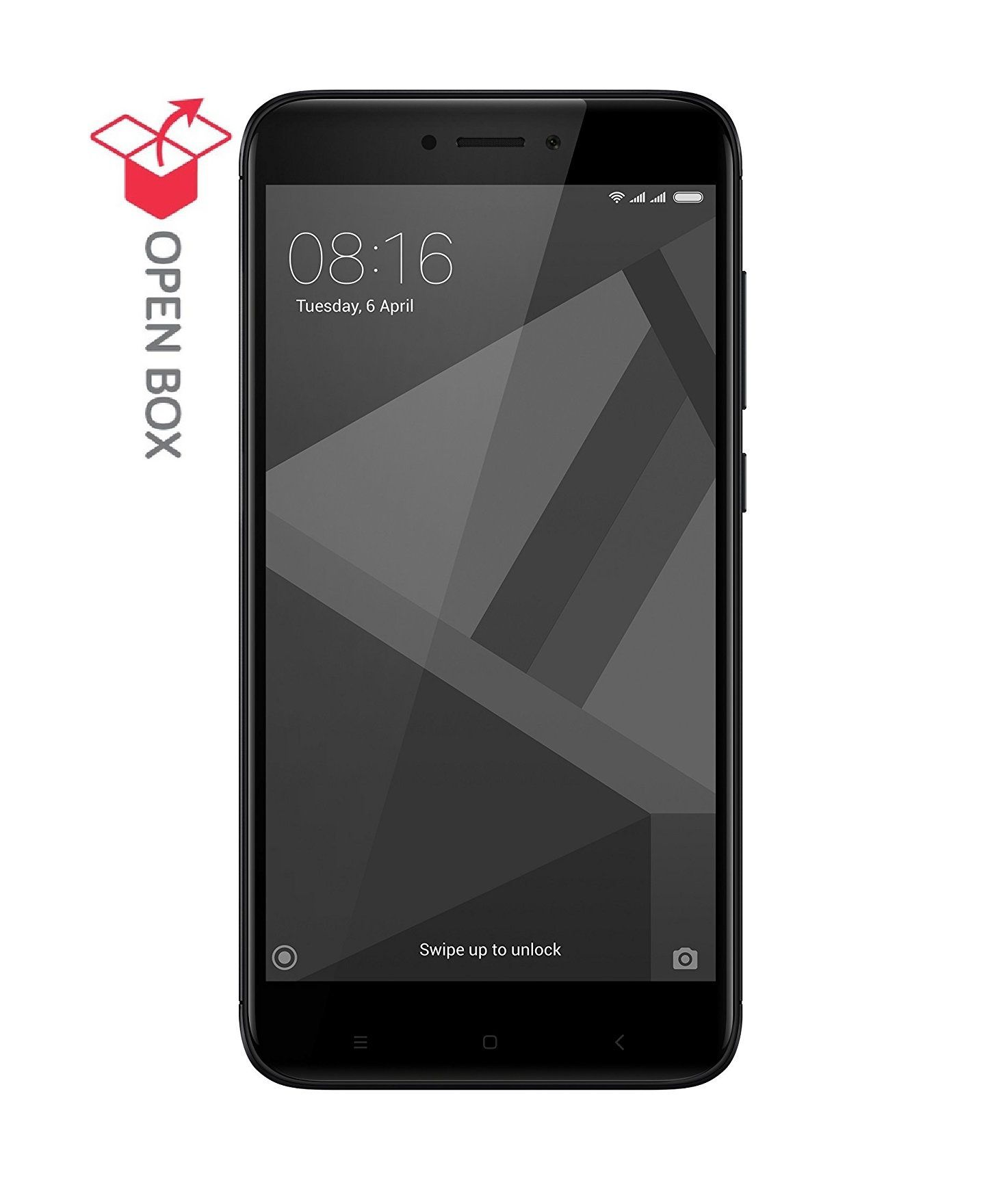 OPEN BOX Redmi 4 32GB Black 3 GB RAM with Cloud Earphone bo Pack