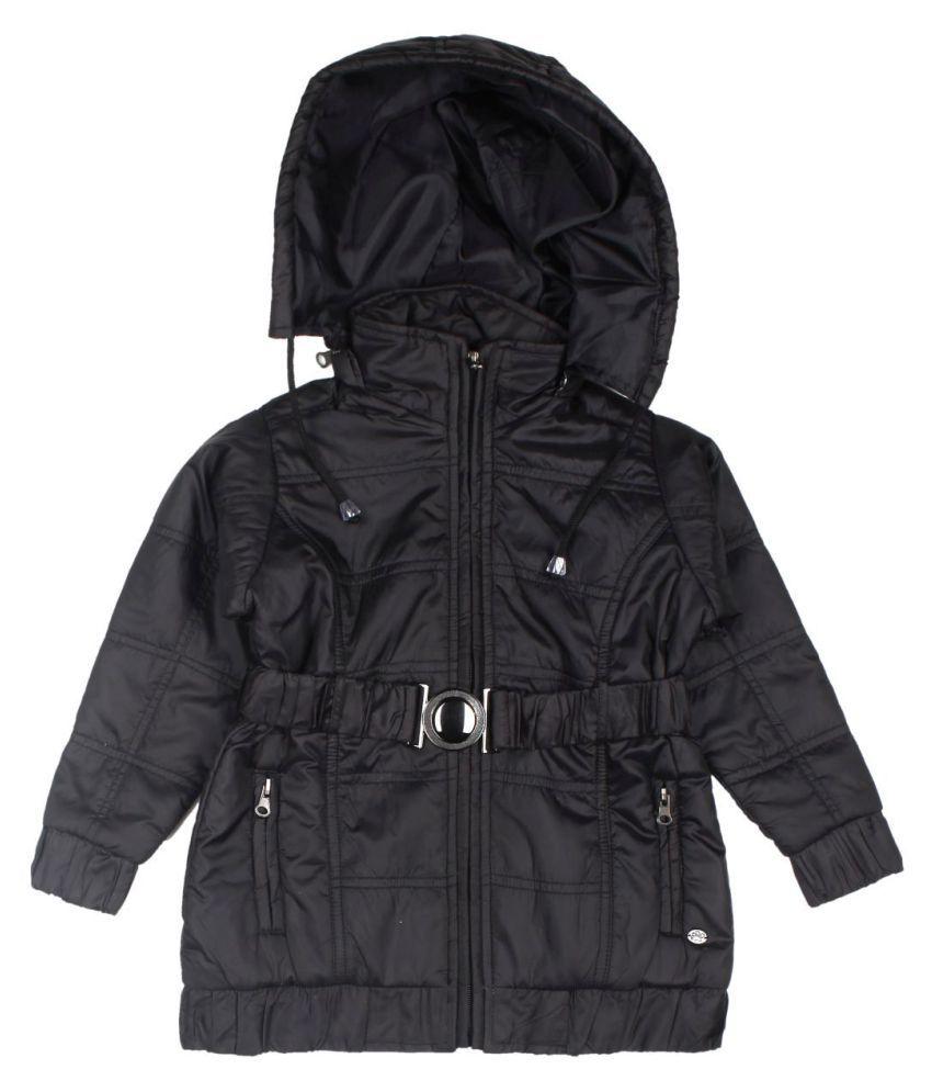 FS MiniKlub Girl's Poly Jacket-Black