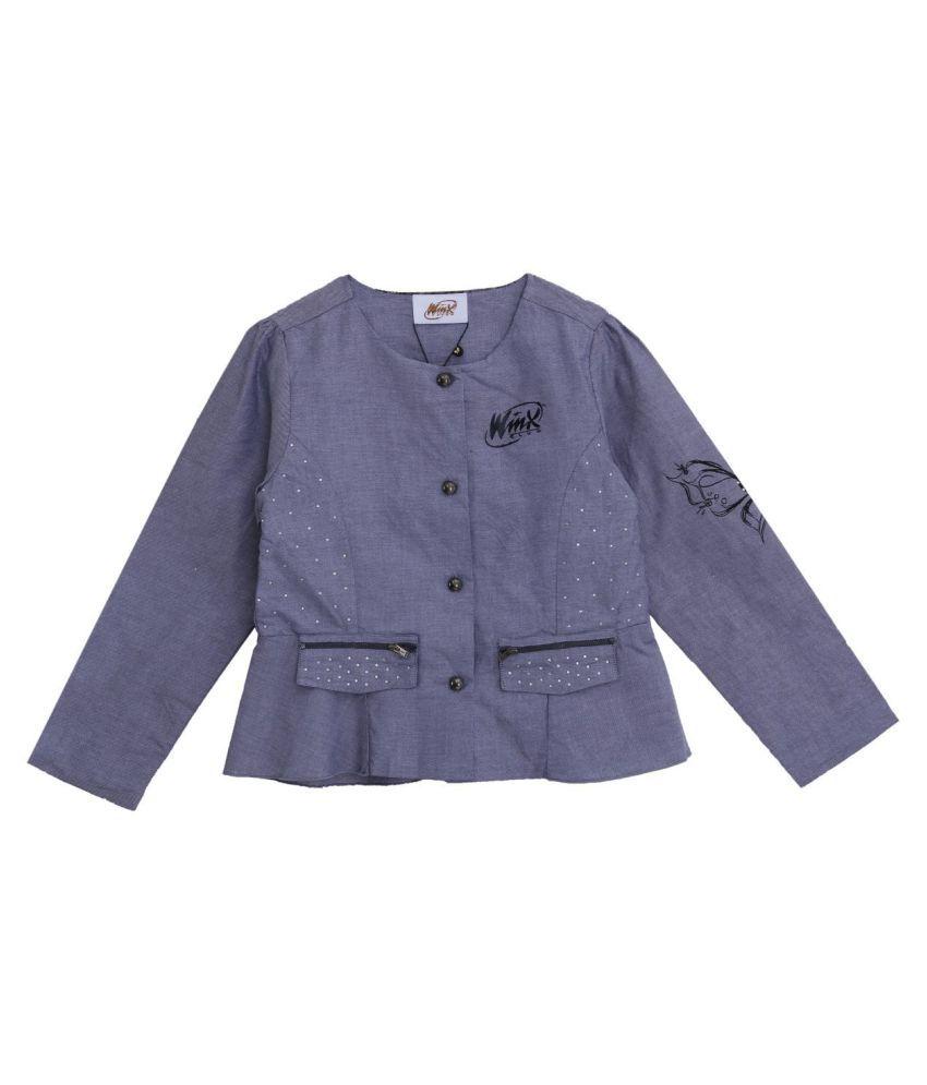 WINX Girl's Woven Jacket-Lt Wash