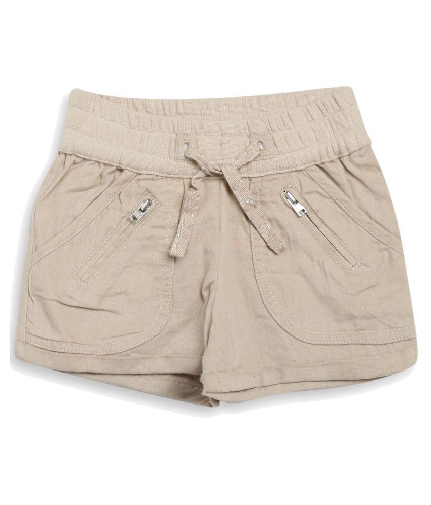 FS MiniKlub Girl's Woven Shorts-Beige