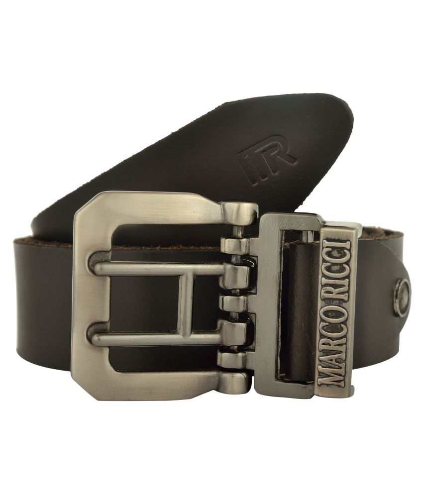 MARCO RICCI Brown Leather Casual Belts