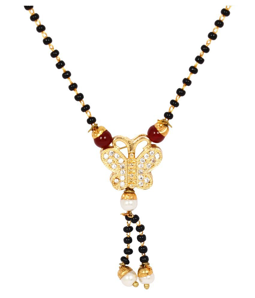 Jewels Gold All Occasion Luxurious Sparkling Fashionable Latest Beautiful  Mangasutra For Women