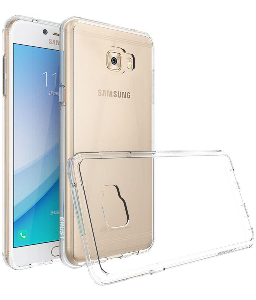 free shipping 43990 3b0bd Samsung Galaxy C7 Pro Hybrid Covers Crust - Transparent