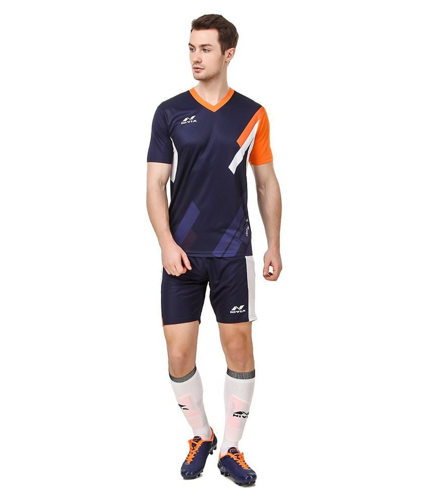Nivia Navy Polyester Jersey Pack of 2