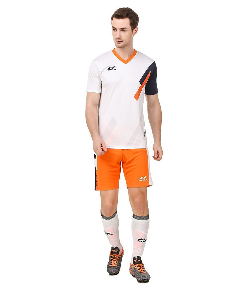Nivia White Polyester Jersey Pack Of 2-M2555S1