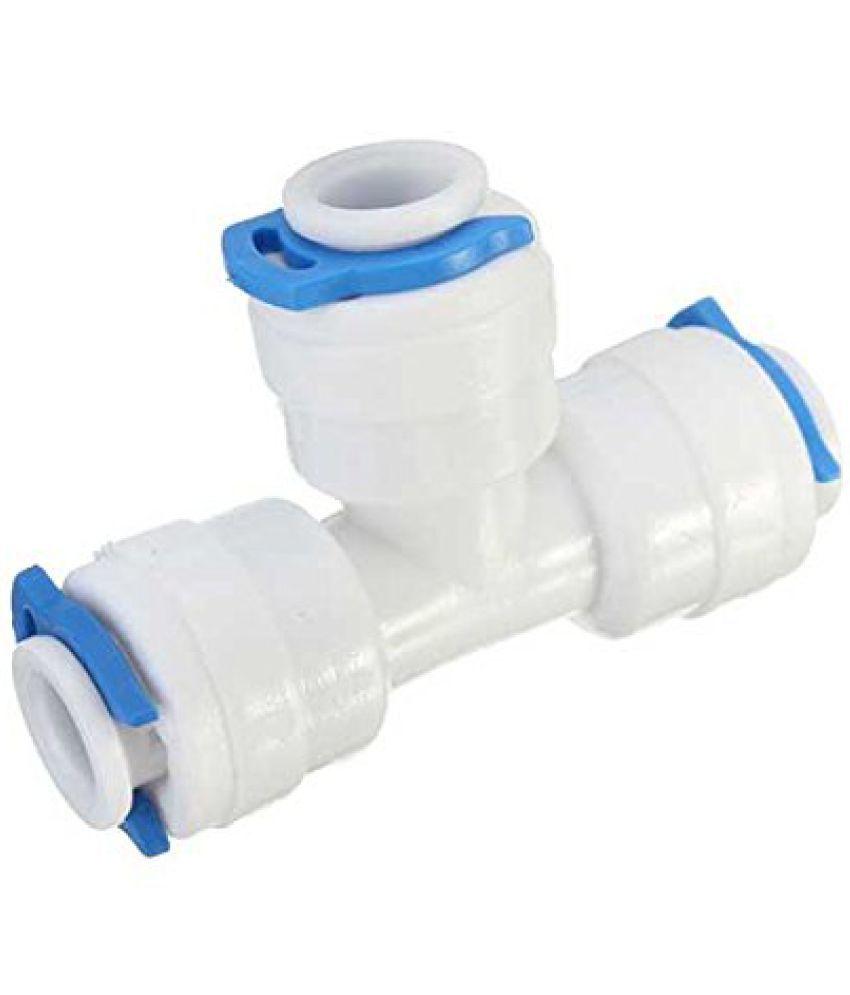 PK Aqua 2 Pcs RO Three Way Tee Union Connector 1/4 Plastic Gadget Tool