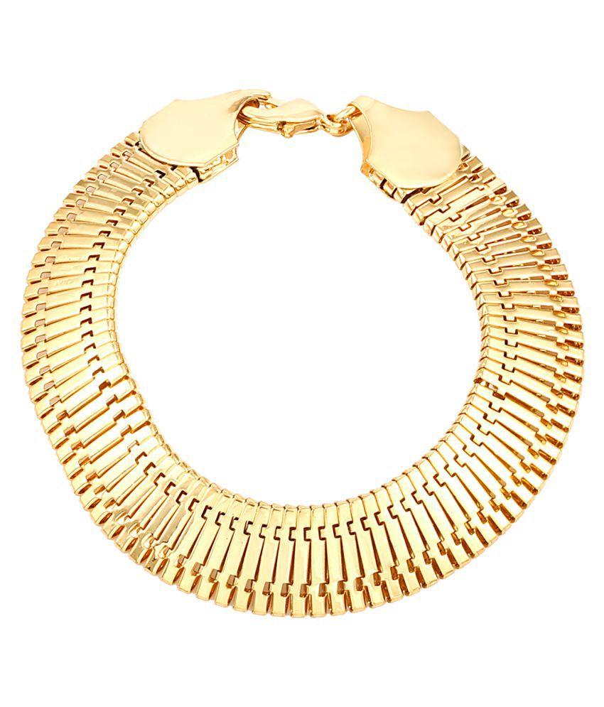 Sanaa Creations Gold Plated Alloy Mens Bracelet