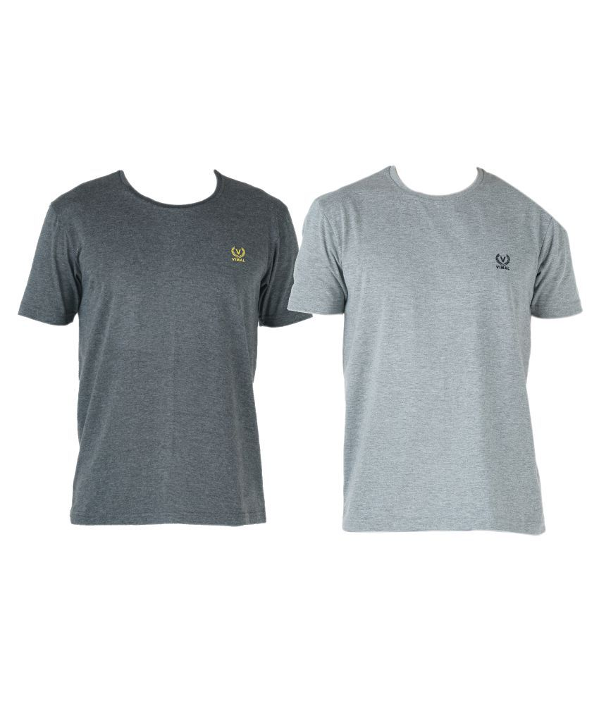 Vimal Multi Round T-Shirt Pack of 2