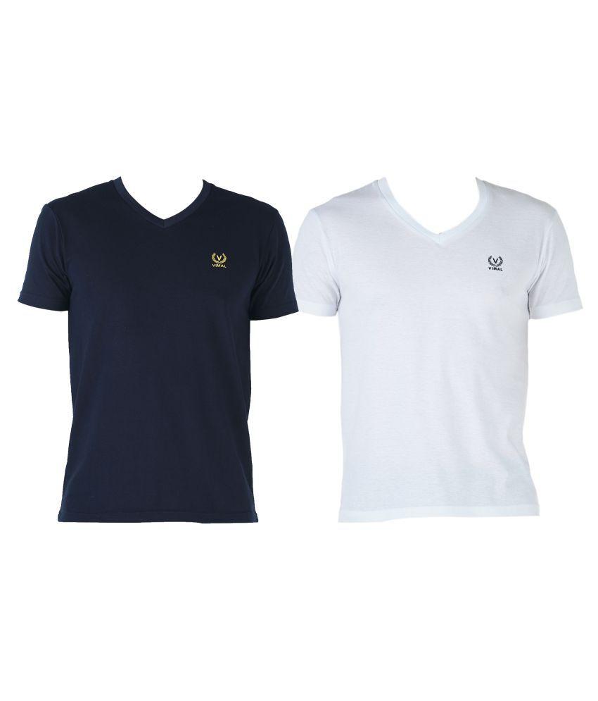 Vimal Jonney Multi V-Neck T-Shirt Pack of 2