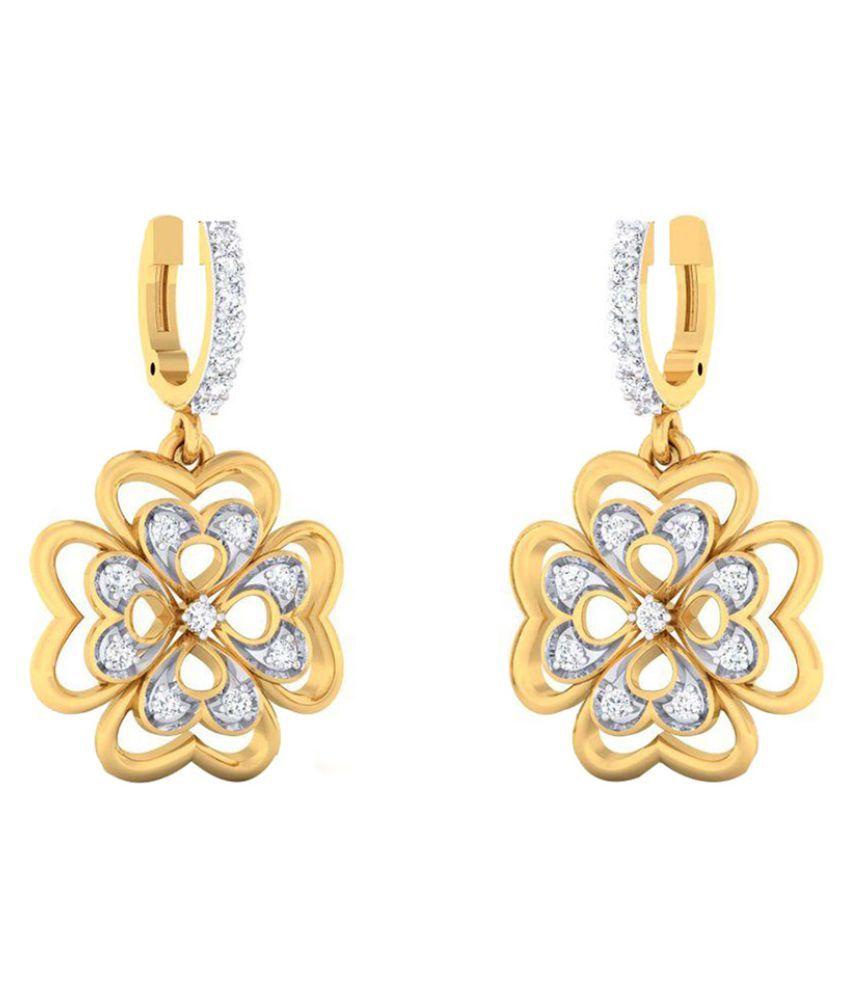 Dishis Designer Jewellery 18k BIS Hallmarked Gold Diamond Hangings