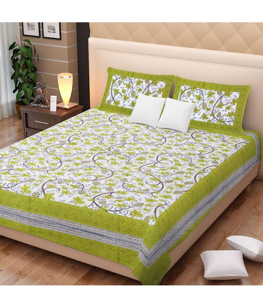 Amazing Fashion Cotton Double Bedsheet with 2 Pillow Covers
