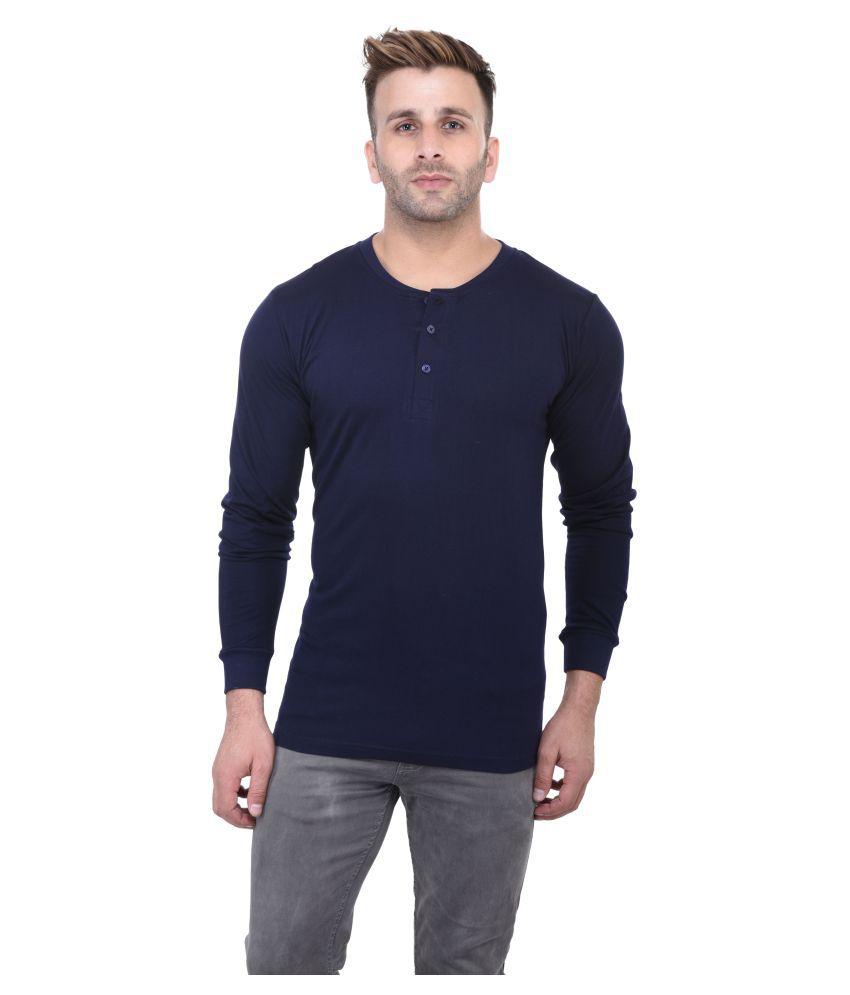 Acomharc Inc Navy Henley T-Shirt