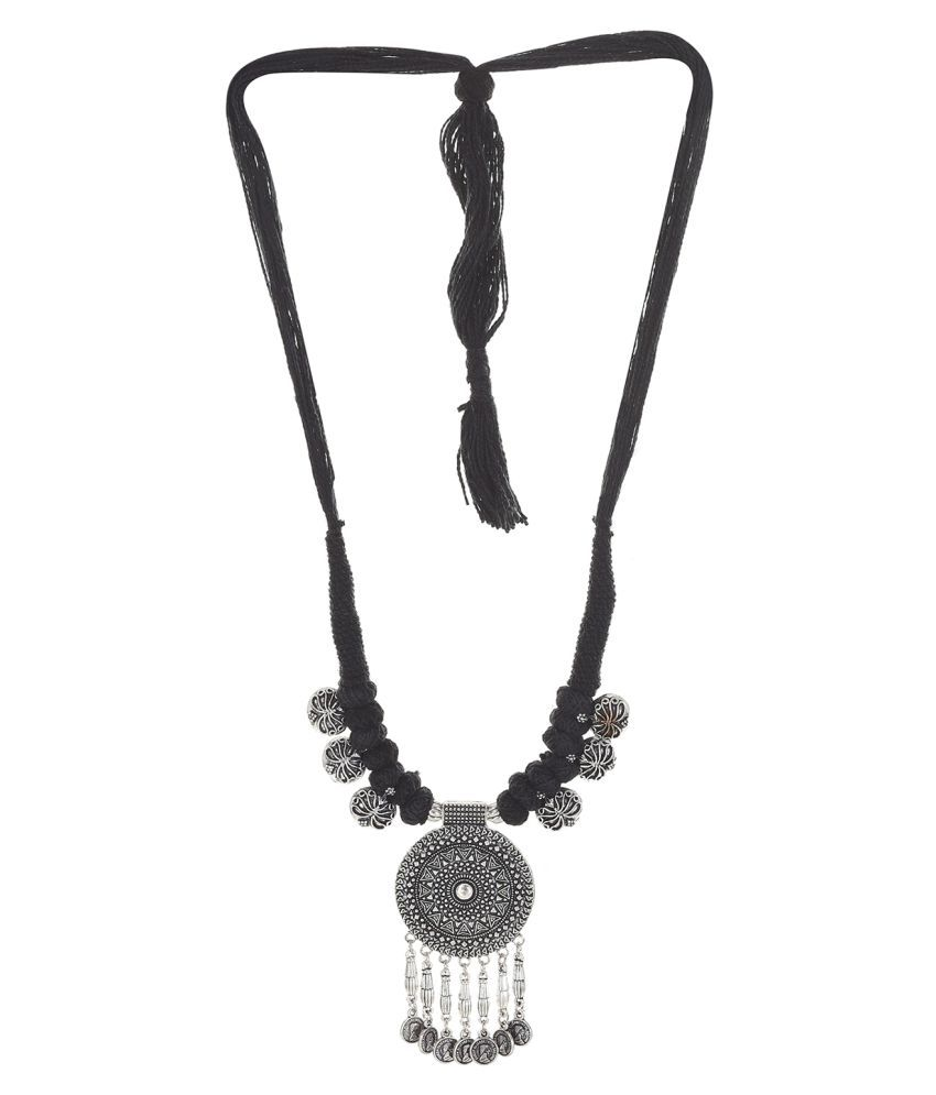 Jewels Dunia Brass material Oxidised Colour Necklace