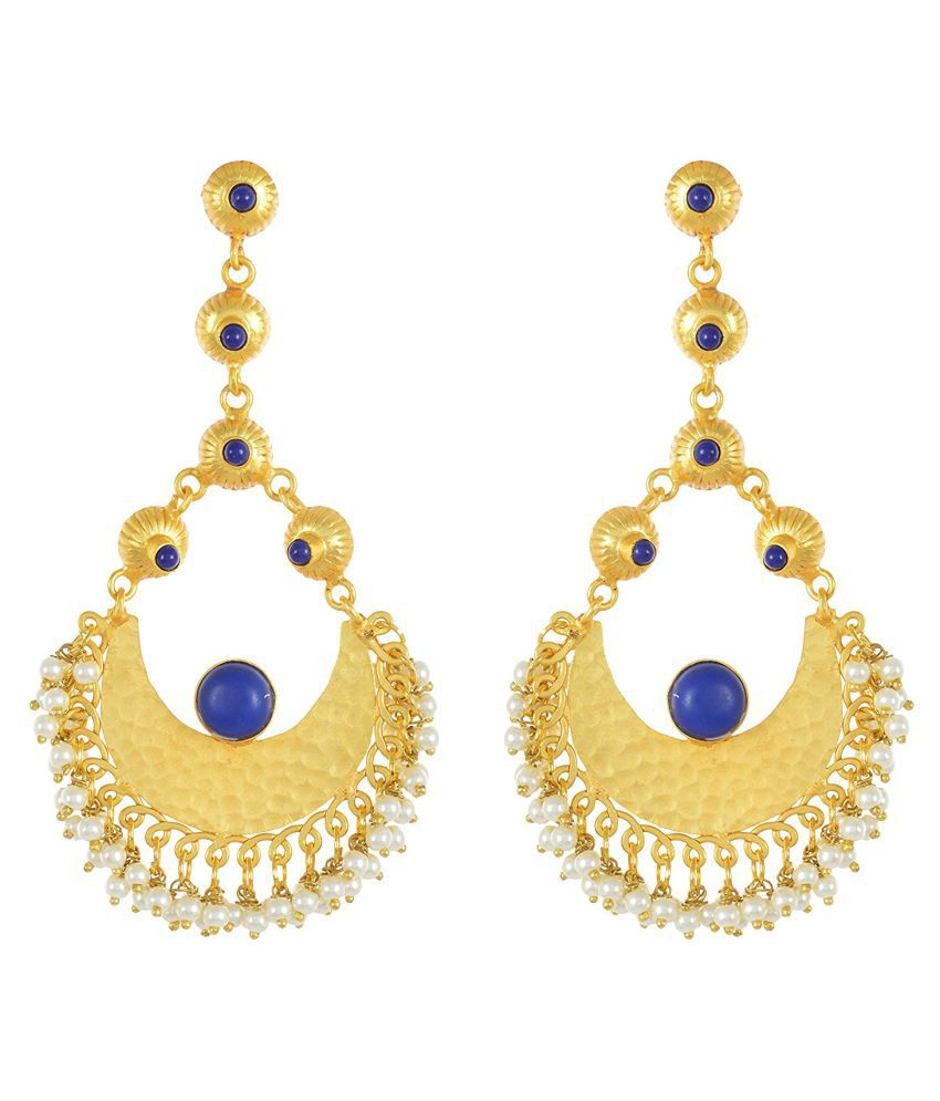 Contemporary Indo Western Colored Stone Stylish Desginer Dangler Earring For Girls / Women