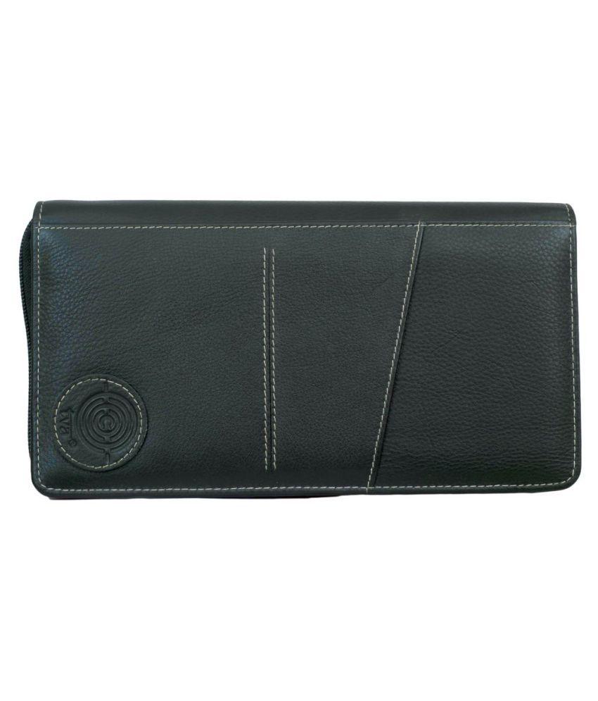 TVA Black Pure Leather Envelope