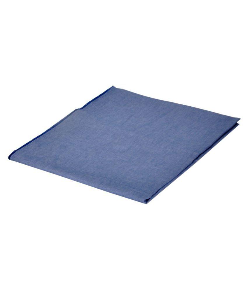 V.J.CLUB Blue Cotton Blend Unstitched Shirt pc 1 Unstitched Shirt Piece