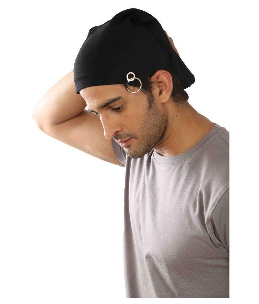 BEZAL Black Cotton Caps