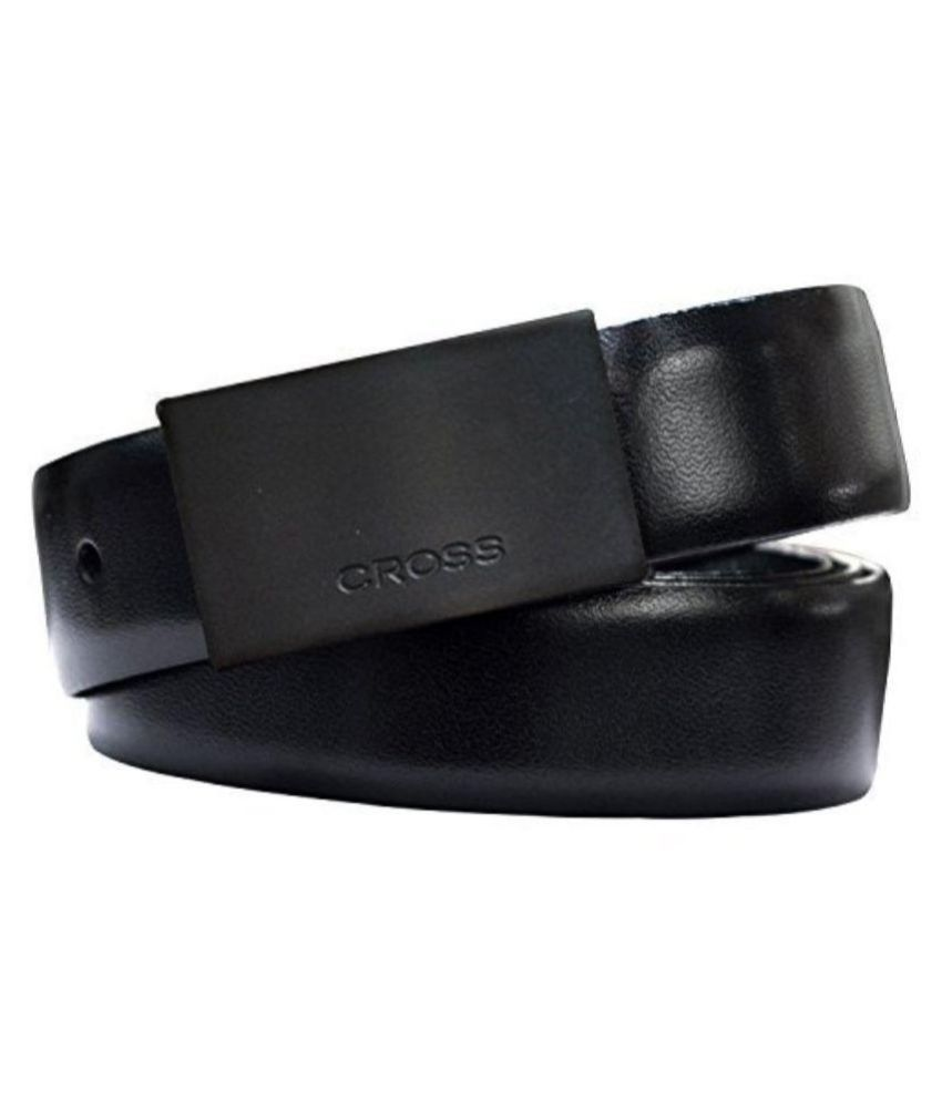 Cross Black Leather Casual Belts