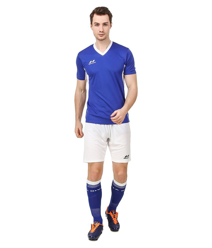 Nivia Blue Polyester Jersey Pack of 2