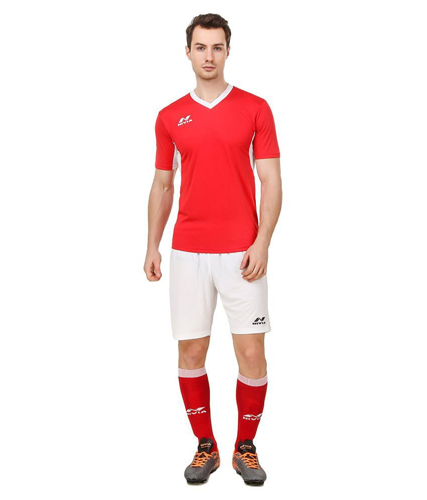 Nivia Red Polyester Jersey Pack Of 2-M2004XS2