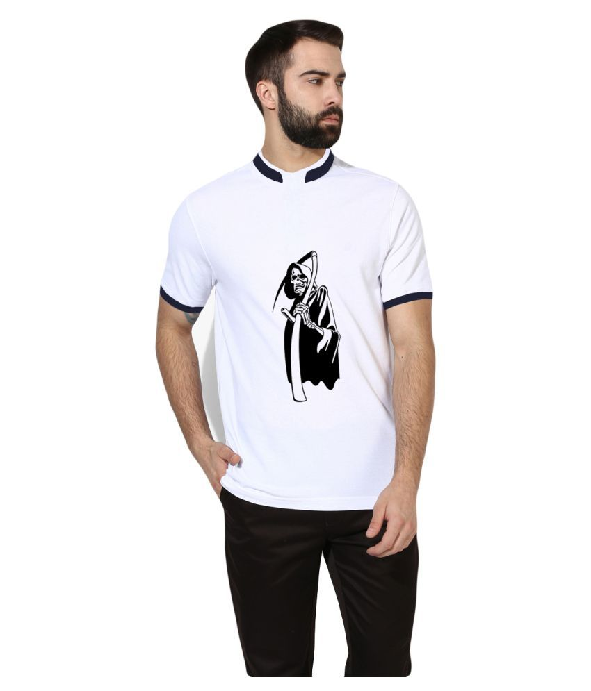 Brandsoon White Round T-Shirt