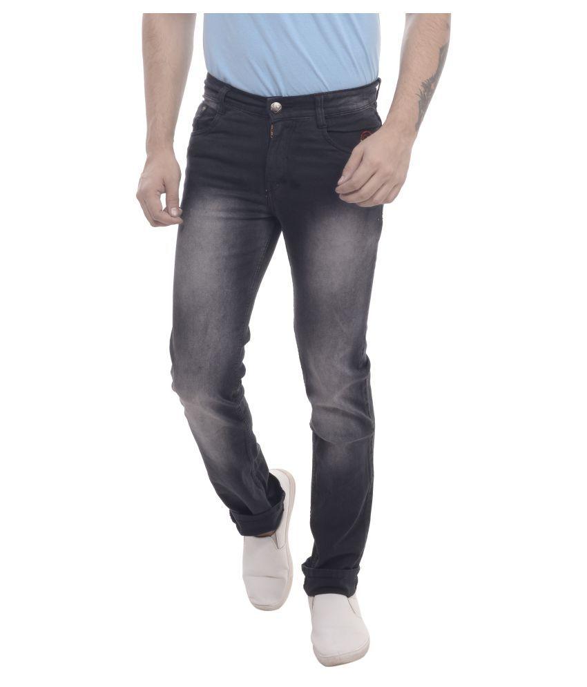 Carlsberry Black Regular Fit Jeans
