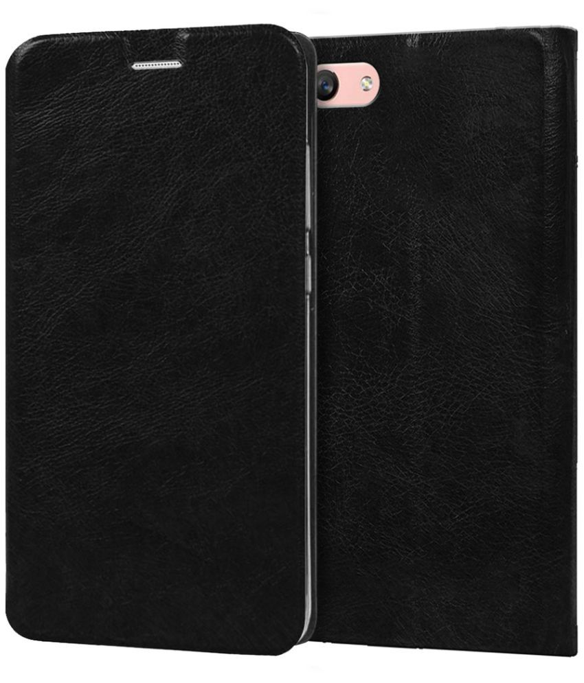 Oppo F1s Flip Cover by Knotyy - Black