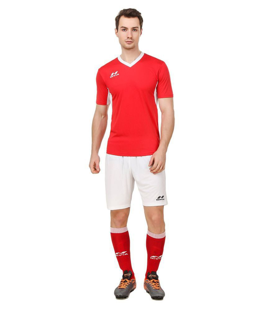Nivia Red Polyester Jersey Pack of 2