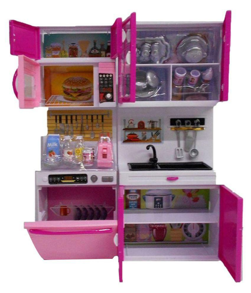 Kitchen Set Online: DWIZA Multicolor Kitchen Play Set With Refrigerator Cook