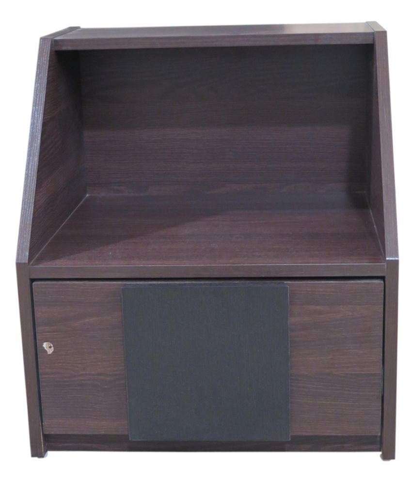Eros Wooden Night Stand cum Bed Side Table