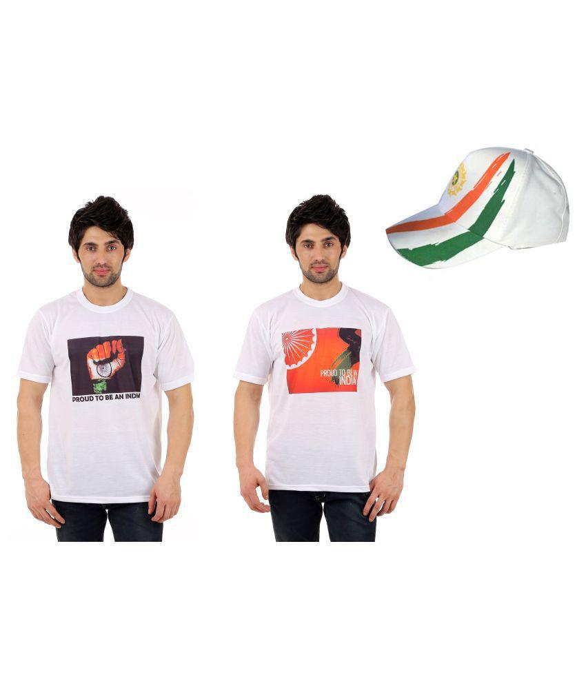 DFNK Atlanta White Round T-Shirt