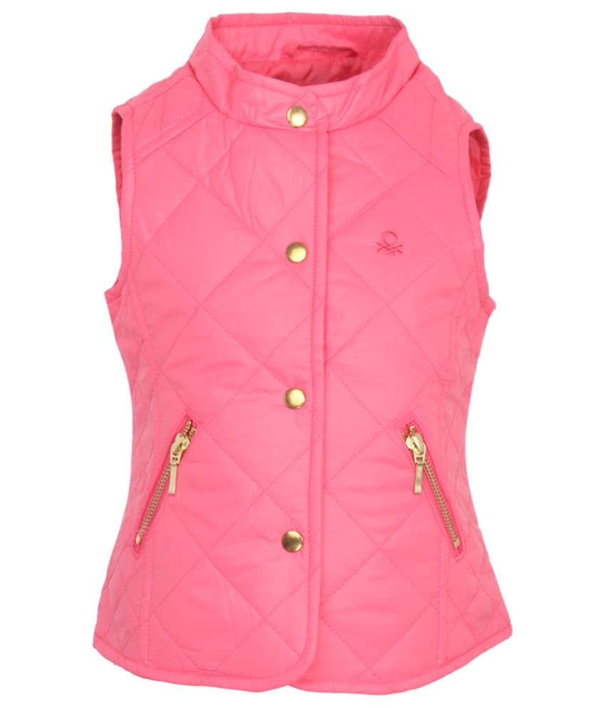 United Colors Of Benetton Pink Girls-Jackets