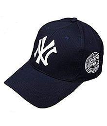 Handcuffs Stylish Cotton Baseball Adjustable Navy Blue Cap For Men/Women (BFVCU04) …