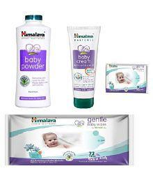 Himalaya Combo (Cream 200ml + Baby Powder 400gm + Baby Wipes 72 Pcs) Free 12 Pcs Wipes
