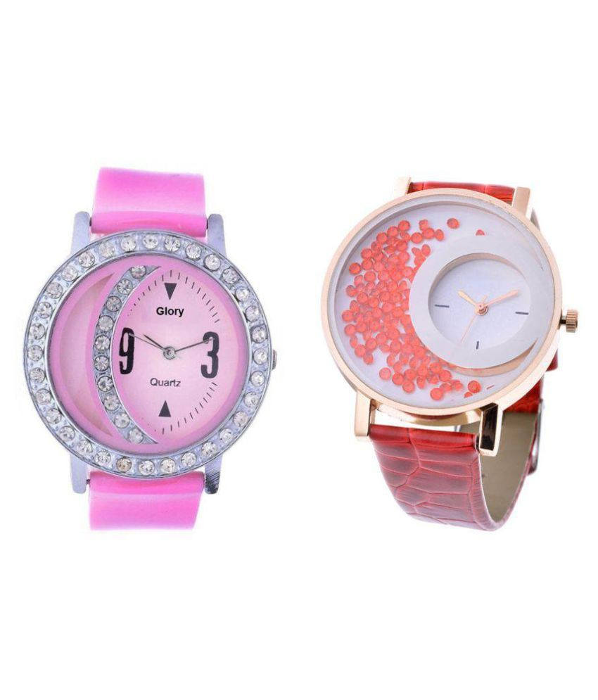 Keepkart Glory Multicolor Analog Watches - Pack of 2