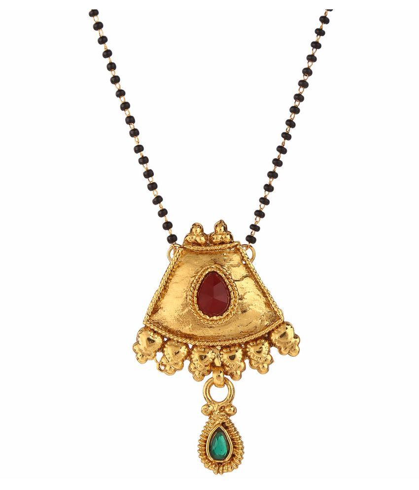 1f8228f85192ba Archi Collection Antique Jewellery Gold Plated Ethnic Mangalsutra Pendant  with chain for Women: Buy Archi Collection Antique Jewellery Gold Plated  Ethnic ...