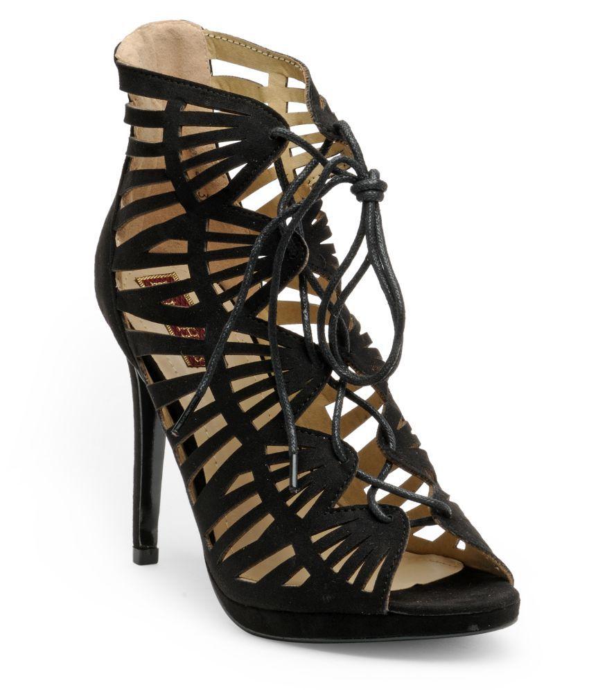 Flat n Heels Black Stiletto Heels