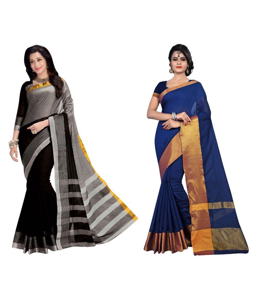 Kavya Fashion Multicoloured Cotton Silk Saree Combos
