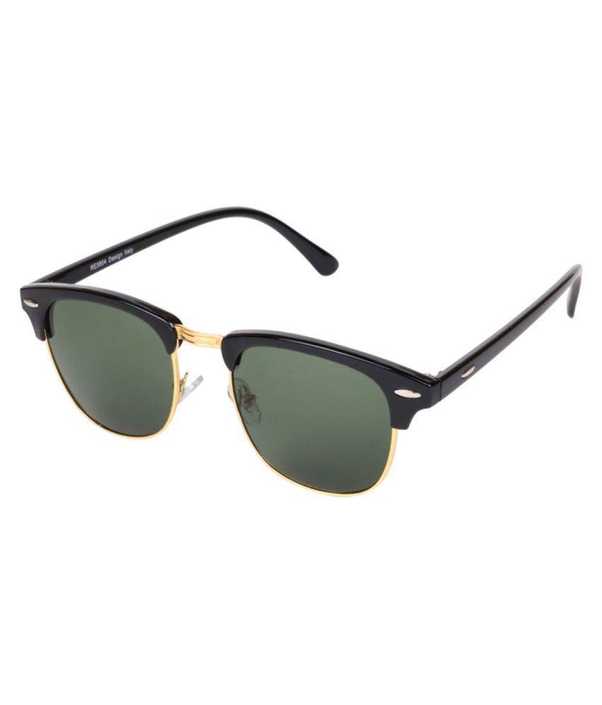 Ejebo Green Clubmaster Sunglasses ( Stylish UV Protection|SUN24 )