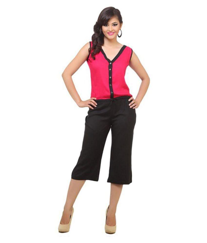 Urbane Woman Crepe Jumpsuits