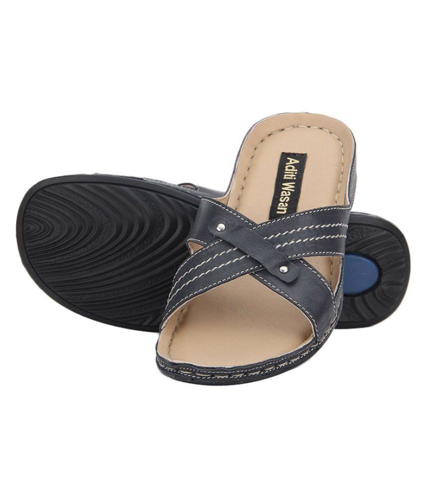 Aditi Wasan Blue Slippers